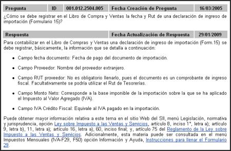FAQ SII: cómo resistrar una importación en el Libro de Compras